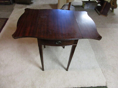 Vintage Mahogany Drop Leaf Table / Stand with Drawer