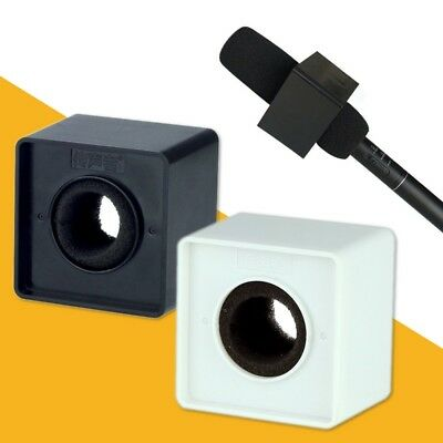 ABS Square Cube Shaped Interview KTV Mic Microphone Logo Flag Station