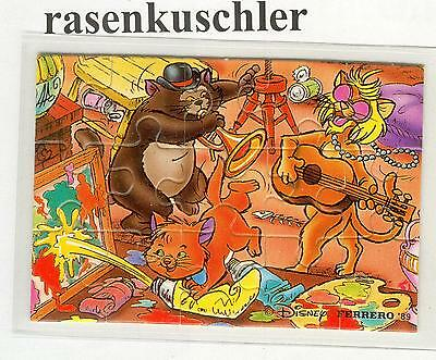 Puzzle  Aristocats  1989  unten  links  -  Original ohne BPZ