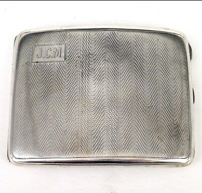 SILVER CIGARETTE CASE 1929 HALLMARKED STERLING BY W T WISEMAN 4.3 Ounces