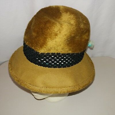 4507492929787 YVES SAINT LAURENT Felt Hat With Feathers Paris New York Vintage ...
