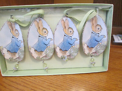 Easter Rabbit Hanging Decorations Group of Four New In Box