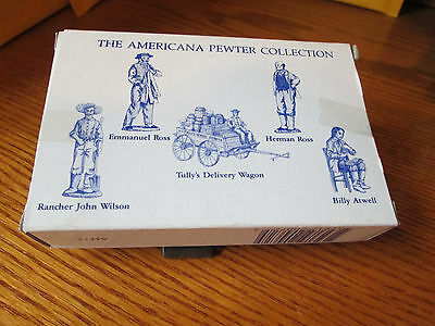 Liberty Falls AH72  Tully's Delivery Wagon 5 Pc Pewter Set 1993 With Box