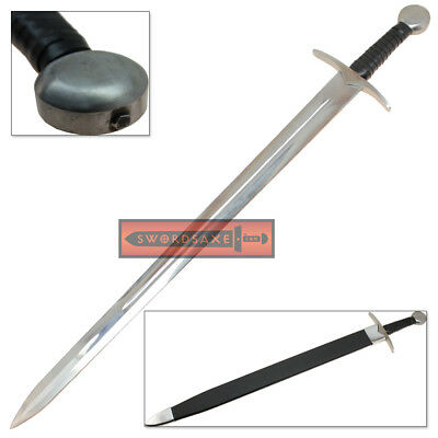 Holy Templar Battle Ready 1060 Full Tang Age of Chivalry Medieval Knightly Sword