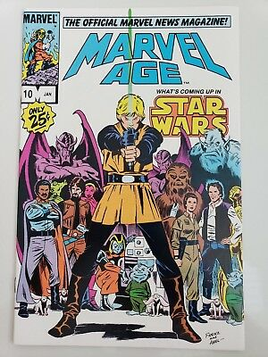Marvel Age #10 (1984) Official Marvel News Magazine! Rare Star Wars Preview!