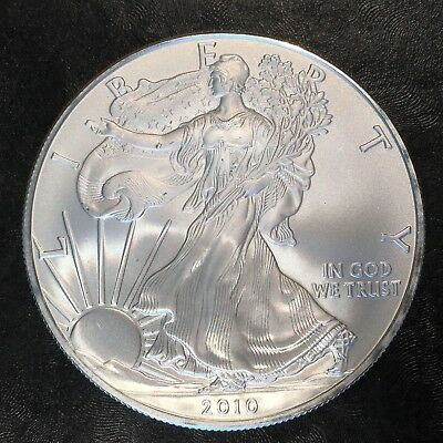 2010 Uncirculated American Silver Eagle US Mint Issue 1oz Pure Silver #H237