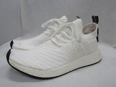 c1e0876d0 Adidas Originals NMD R2 Primeknit Men s White Running Shoes Size 9.5 BY3015