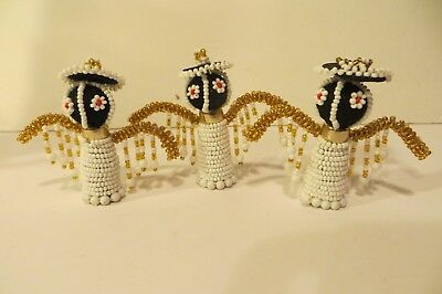 South African Beaded Angel Ornament