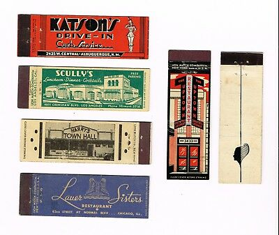 Matchbook Covers Lot of (6) Lion Match Co. Midget Full Length 1934-1943 #395