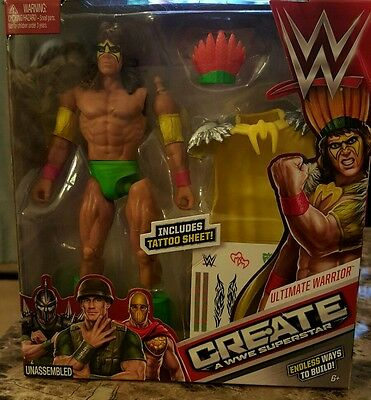 Wwe Create A Superstar Warrior Expansion Pack Toy Play Mattel MYTODDLER New