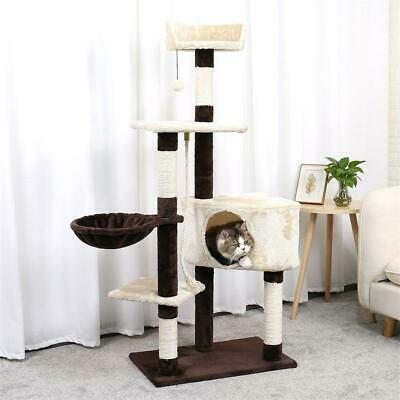 Cat Tree Condo Tower with Scratching Posts Kitten Furniture Play House
