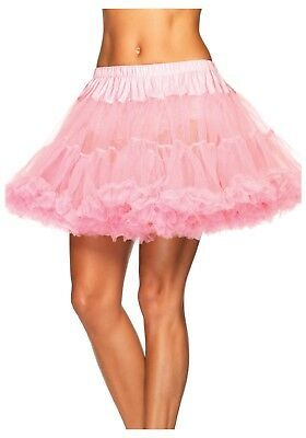 Light Pink Tulle Petticoat Womens One Size Fits Most O/S Cotton Candy Pink Adult