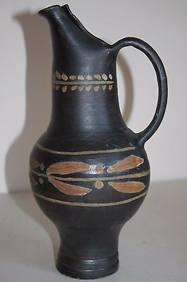 ANCIENT GREEK ETRUSCAN POTTERY JUG 4th CENTURY BC