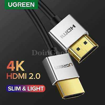 Ugreen Hdmi 2.0 Cable 4k Hdr Slim V2.0 Apple Ps3 Ultra Hd Computer To Tv Cord