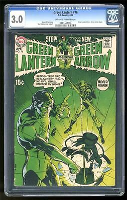 DC Comics GREEN LANTERN 1st NEIL ADAMS Bronze age #76 1970 ARROW VG- CGC 3.0 KEY