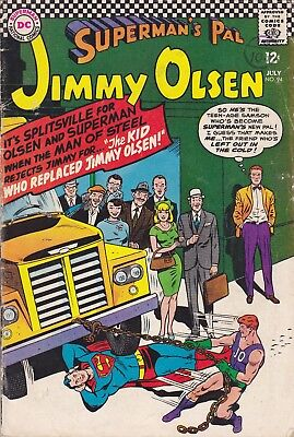 DC Silver Age Comic SUPERMAN'S PAL JIMMY OLSEN 94 (1966)   £4.99 Post Free UK