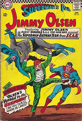 DC Silver Age Comic SUPERMAN'S PAL JIMMY OLSEN 92 (1966)  £4.99 Post Free UK