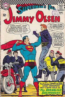 DC Silver Age Comic SUPERMAN'S PAL JIMMY OLSEN 91 (1966)  £4.99 Post Free UK