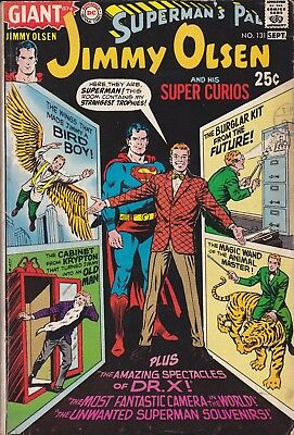 DC Silver Age Comic SUPERMAN'S PAL JIMMY OLSEN 131 (1970) GIANT Post Free UK