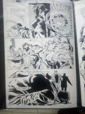 Punisher Original Comic art page by ron wagner