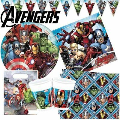 Avengers Party Plates Cups Banners Tablecovers Avengers Party Decorations