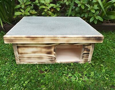 Wooden Wood Hedgehog Hog House And Hibernation Shelter Nesting Free Bedding !