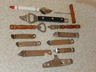 VINTAGE MIXED LOT OF 12 BOTTLE  / CAN OPENERS Ekco Vaughan Handy and others