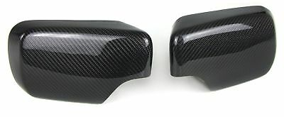 Carbon Mirror Covers For Bmw E46 98-05 Series 3 Saloon Estate Look New