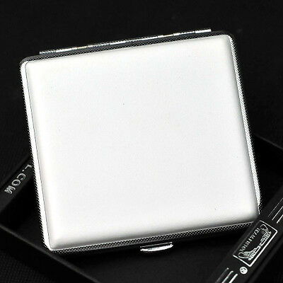 White copper Tobacco Pocket 20 Cigarette Case  White Smoke Holder Box