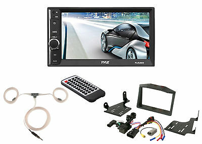Pyle Touchscreen Radio, Scosche Polaris Dash Kit, Enrock Marine Antenna