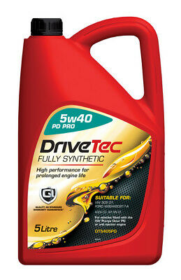 Drivetec PD Pro FS 5L Car Motor Engine Oil 5 Litre SAE 5W40 Fully Synthetic