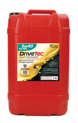 Drivetec PD Pro FS 20L Car Motor Engine Oil 20 Litre SAE 5W40 Fully Synthetic