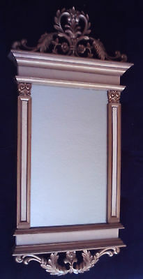 """Vintage Syroco Large Ornate Baroque Rococo Style Gold Wall Mirror 36"""" H x 17"""" W"""
