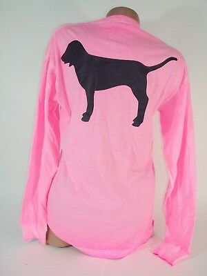 Victorias Secret PINK Womens X Small T Shirt Dog Bright Loose Fit Top