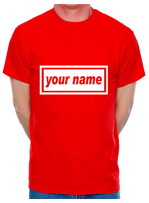 Customised T-Shirt Your Name You Choose The Name Word Song Mens