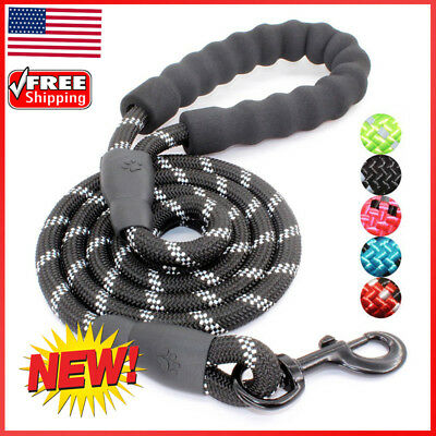 Multi-Color 5FT Strong Dog Leash Climbing Rope Reflective Thread Night Safe US