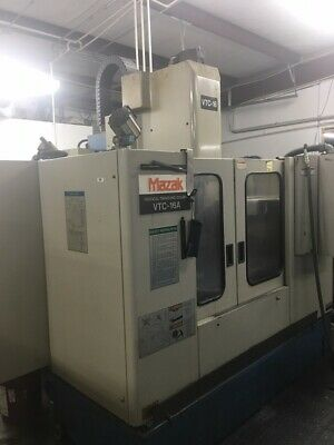 """USED MAZAK VTC-16A CNC VERTICAL MILL 1995 22.16.20"""" 7000 RPM 24 Tools ATLM Chip"""