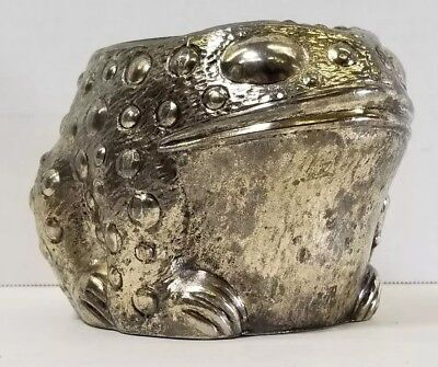 F.B. Rogers Silver Plated Toad Frog Vase, Flowers, Planter  -  JAPAN