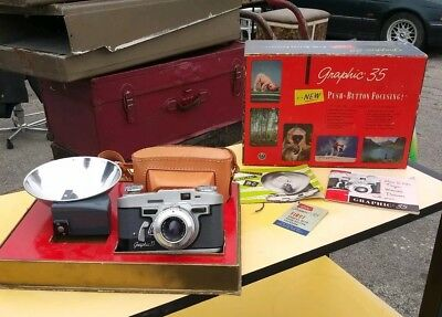 Vintage 1951 Graflex 35mm Rangefinder Camera