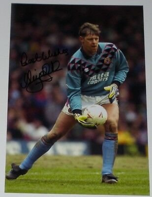 Nigel Spink Aston Villa Personally Signed 12X8 Autograph Photo Soccer