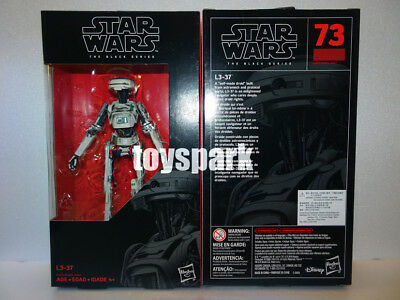 "IN HAND HASBRO STAR WARS Solo Black Series 6"" inch #73 L3-37 Droid action figure"
