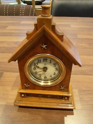 Antique Swiss Chalet Bedroom Clock with HAC movement for service circa 1910