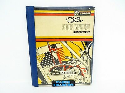 Oem Genuine Can-Am Shop Service Repair Manual Supplement 1975 1976 735008002