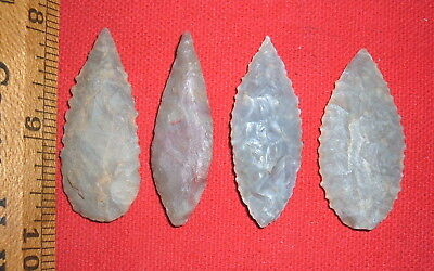 """(4) Select Sahara Neolithic Blades (1.75"""") Tools, Prehistoric African Artifacts"""