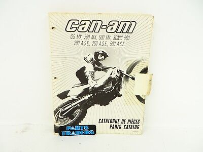 Oem Genuine Can-Am Parts Catalog Manual 125 250 500 200 MX ASE Sonic 560 1985