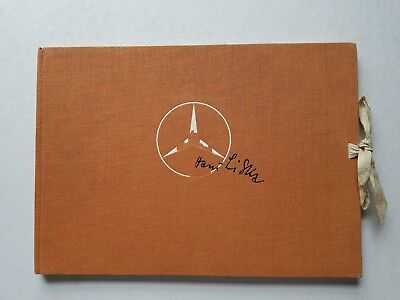 VINTAGE BOOK 1955  Mercedes Diamler Benz HANS LISKA sketch Book Drawings