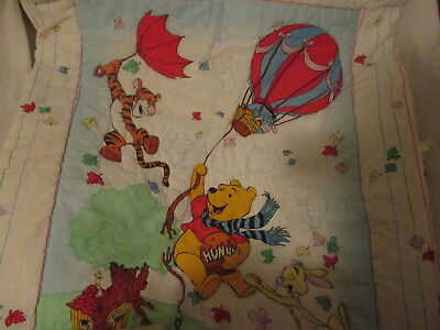 Vintage Winnie The Pooh Baby Bed Comforter Quilt Usa