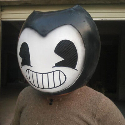 Hot Bendy The Ink Machine Mask Latex Hood Halloween Party Role Play Cosplay Prop