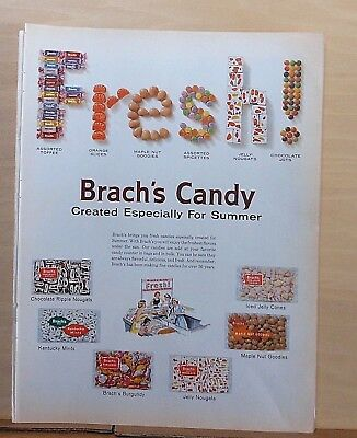 1960 magazine ad for Brach's Candy - Created Especially for Summer, Fresh!