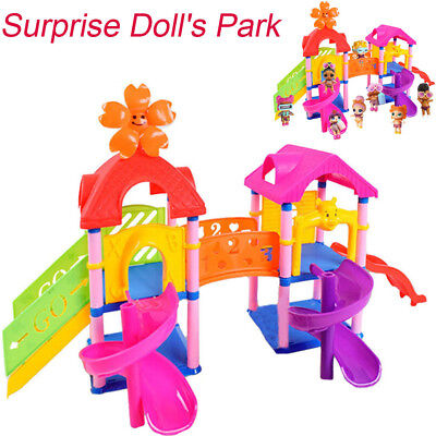 Park House Game Slide Playset Baby Girls Boy Kids Gift Toy for LOL Surprise Doll